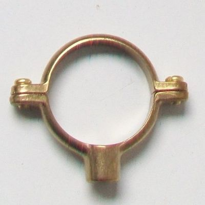 Munson Ring Pipe Clip 42mm Bracket Brass - 07002320
